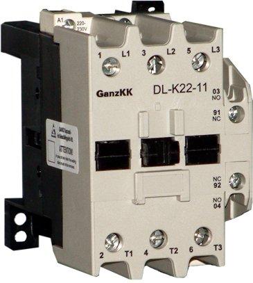 электромагнитные контакторы серии DL-K от 22 до 37 кВт